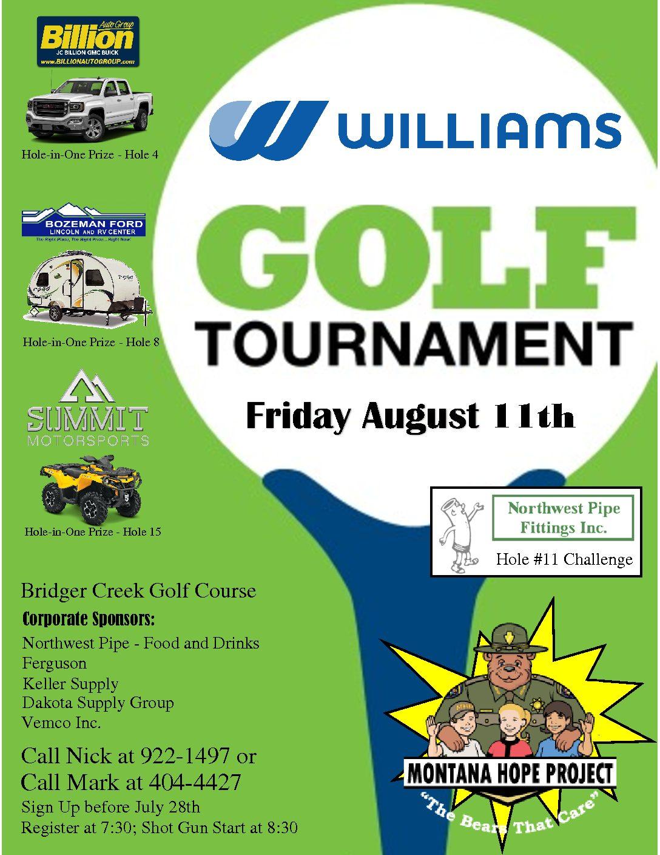 Williams Golf Tournament | Montana Hope Project